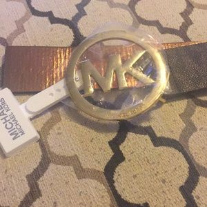Authentic Michael Kors MK Logo Belt